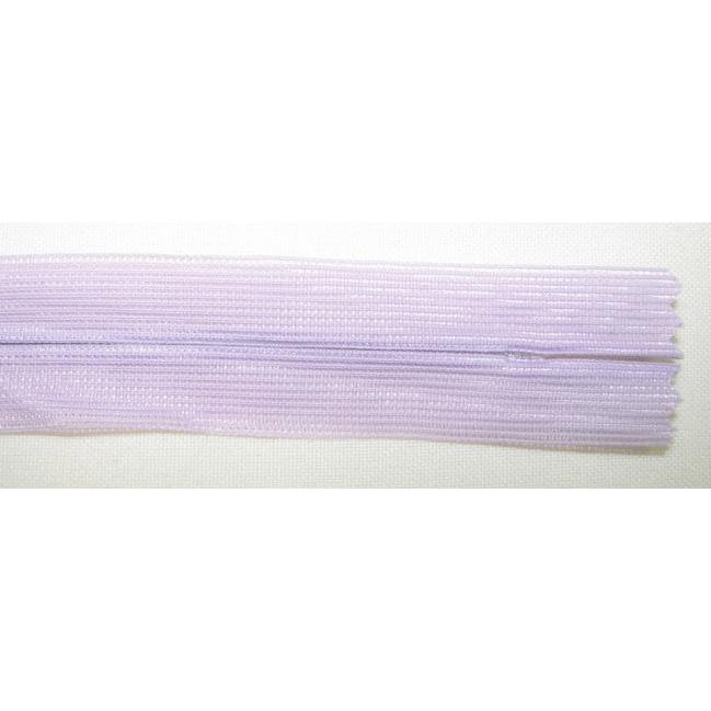 Zips krytý nedeliteľný 20cm bledučká fialová