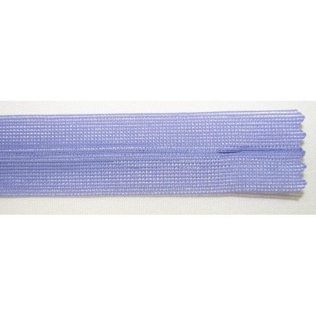 Zips krytý nedeliteľný 20cm fialová
