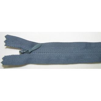 Zips krytý nedeliteľný Bavlnený 20cm šedá