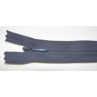 Zips krytý nedeliteľný Bavlnený 20cm bledá tmavá šedá