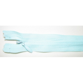 Zips krytý nedeliteľný Bavlnený 20cm bledá modro-zelená