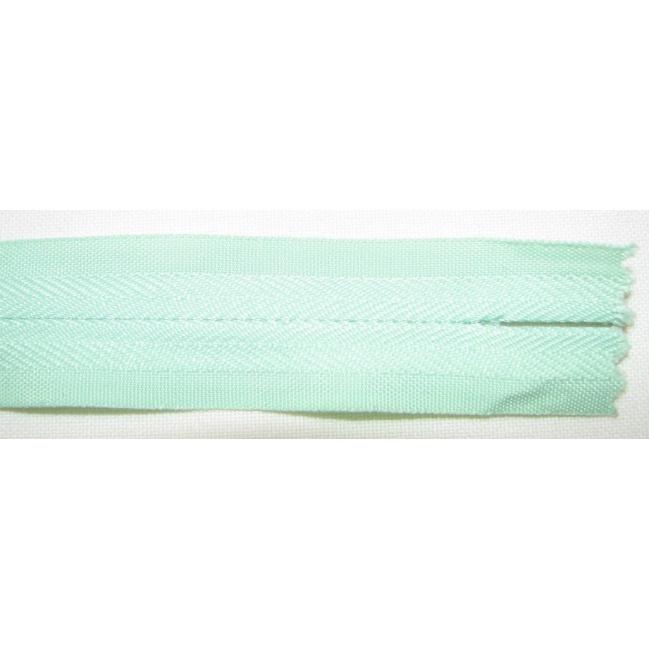 Zips krytý nedeliteľný Bavlnený 20cm bledšia zelená