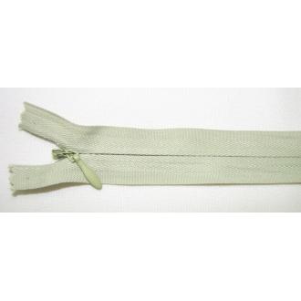 Zips krytý nedeliteľný Bavlnený 20cm zelená