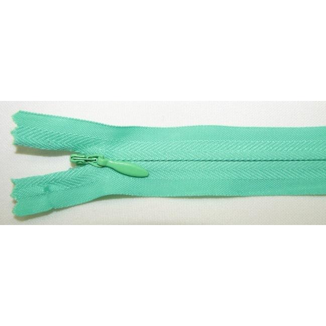 Zips krytý nedeliteľný Bavlnený 20cm krásna zelená