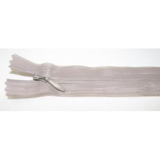 Zips krytý nedeliteľný 25cm hnedo-zelený
