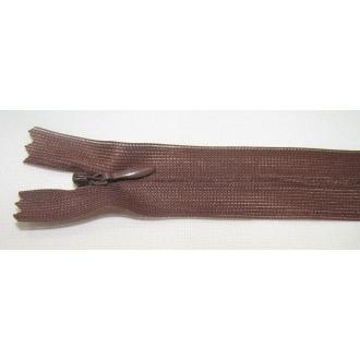 Zips krytý nedeliteľný 25cm hnedý
