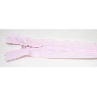 Zips krytý nedeliteľný 25cm bledo ružová