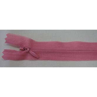 Zips krytý nedeliteľný 25cm staro ružová