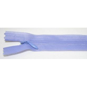 Zips krytý nedeliteľný 25cm fialová