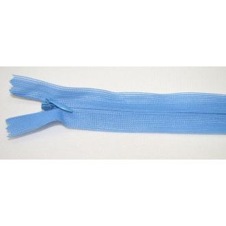 Zips krytý nedeliteľný 25cm modrá