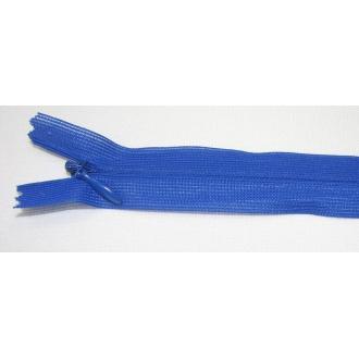 Zips krytý nedeliteľný 25cm kráľovská modrá