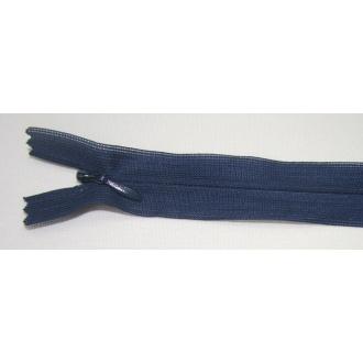 Zips krytý nedeliteľný 25cm tmavo modrá