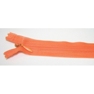 Zips krytý nedeliteľný 25cm oranžová