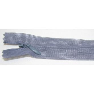 Zips krytý nedeliteľný 25cm šedá
