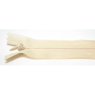 Zips krytý nedeliteľný 30cm béžová bledá