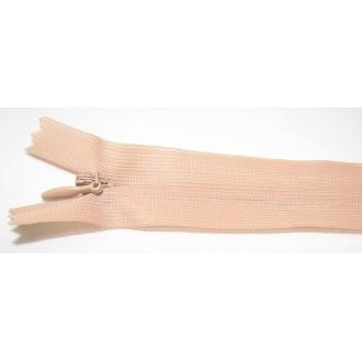 Zips krytý nedeliteľný 30cm hnedá