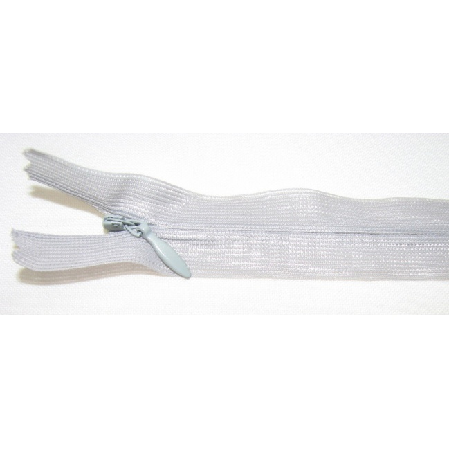 Zips krytý nedeliteľný 30cm bledo šedá