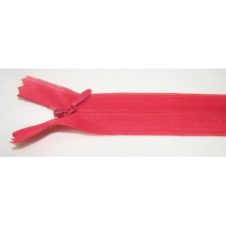 Zips krytý nedeliteľný 30cm červený