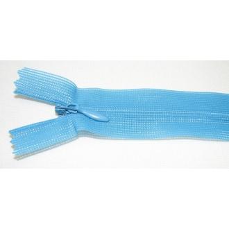 Zips krytý nedeliteľný 30cm tyrkys