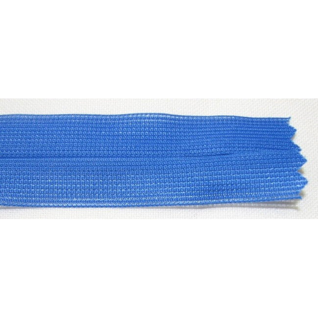 Zips krytý nedeliteľný 30cm kráľovská modrá