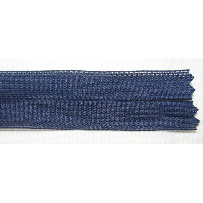 Zips krytý nedeliteľný 30cm tmavo modrá