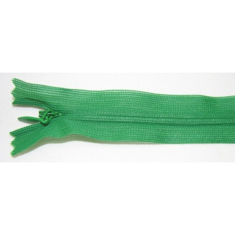 Zips krytý nedeliteľný 30cm zelená