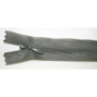 Zips krytý nedeliteľný 30cm tmavo zelená