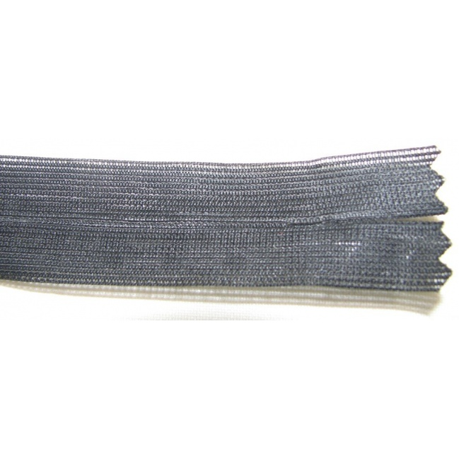 Zips krytý nedeliteľný 35cm čierny