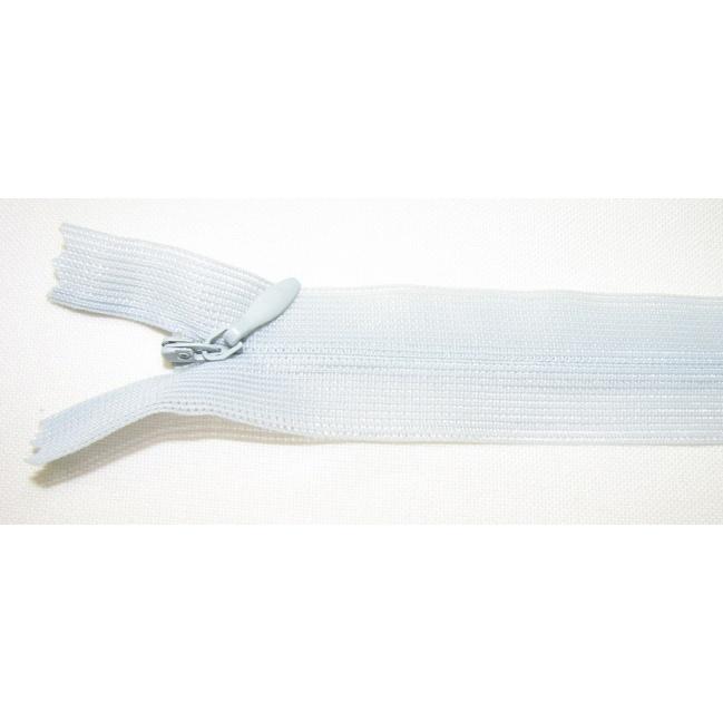 Zips krytý nedeliteľný 35cm bledučko šedá