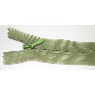 Zips krytý nedeliteľný 35cm zelená