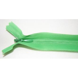 Zips krytý nedeliteľný 35cm jasná zelená