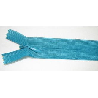 Zips krytý nedeliteľný 35cm zeleno tyrkysová