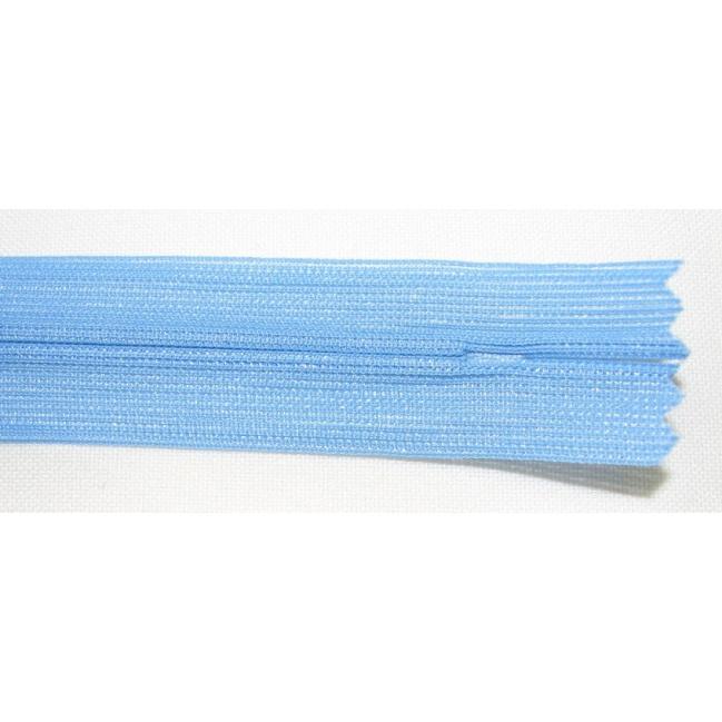 Zips krytý nedeliteľný 35cm modrá