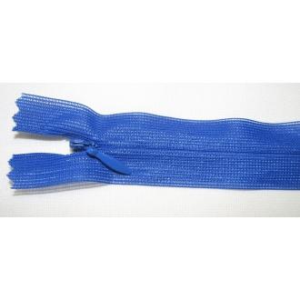 Zips krytý nedeliteľný 35cm kráľovská modrá