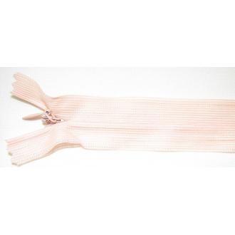 Zips krytý nedeliteľný 35cm bledučko marhuľový