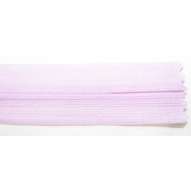 Zips krytý nedeliteľný 35cm bledučko fialový