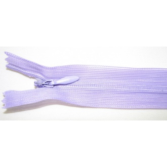 Zips krytý nedeliteľný 35cm fialová