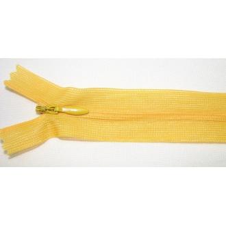 Zips krytý nedeliteľný 35cm žltá