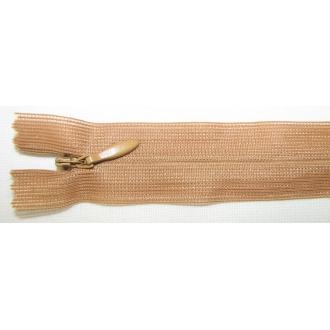 Zips krytý nedeliteľný 40cm bledší hnedý