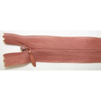 Zips krytý nedeliteľný 40cm škoricová