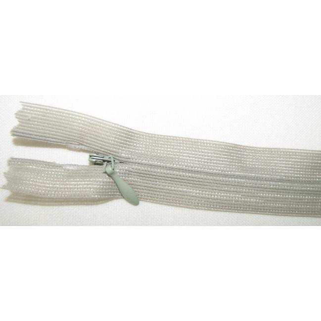 Zips krytý nedeliteľný 40cm bledý zelený