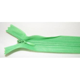 Zips krytý nedeliteľný 40cm zelená jasná