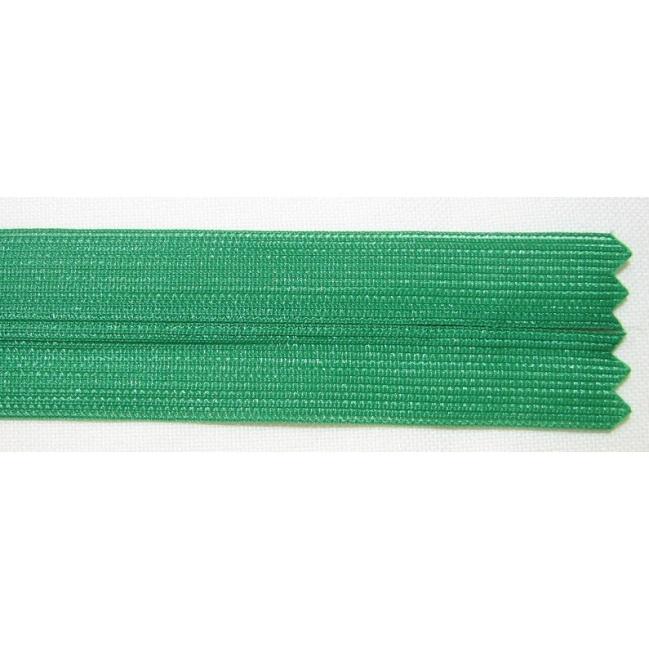 Zips krytý nedeliteľný 40cm zelená