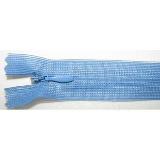 Zips krytý nedeliteľný 40cm modrý