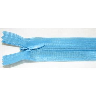 Zips krytý nedeliteľný 40cm tyrkysový