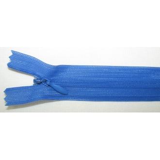 Zips krytý nedeliteľný 40cm bledšia kráľovská modrá
