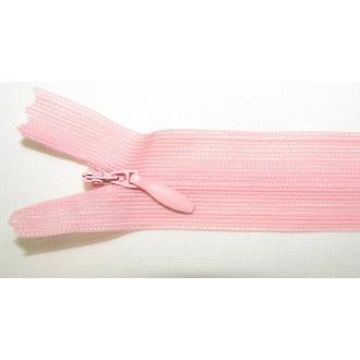Zips krytý nedeliteľný 40cm bledo marhuľová