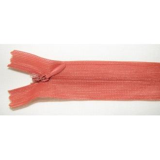 Zips krytý nedeliteľný 40cm bledšia tehlová