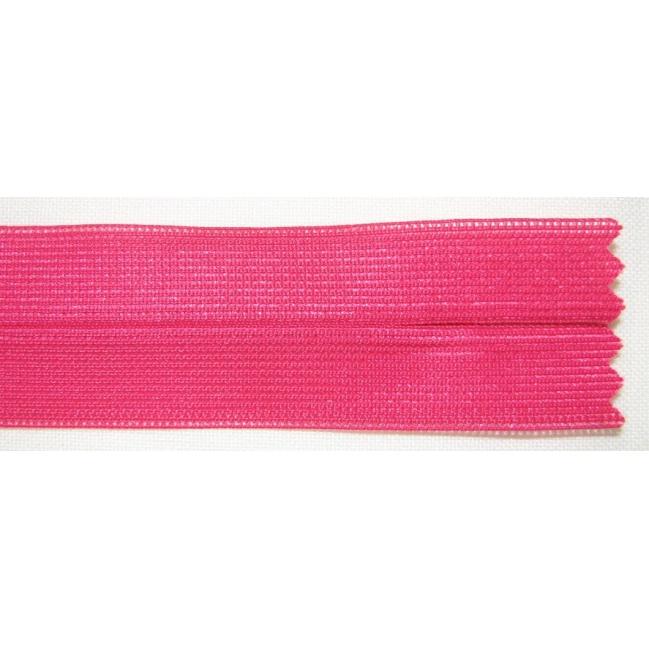 Zips krytý nedeliteľný 40cm tmavá cyklamenová