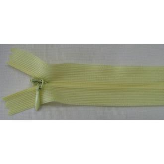 Zips krytý nedeliteľný 40cm bledo žltý
